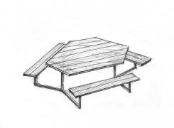 Скамейки со столом 6-1