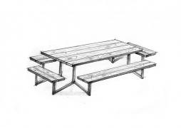Скамейки со столом 3-1
